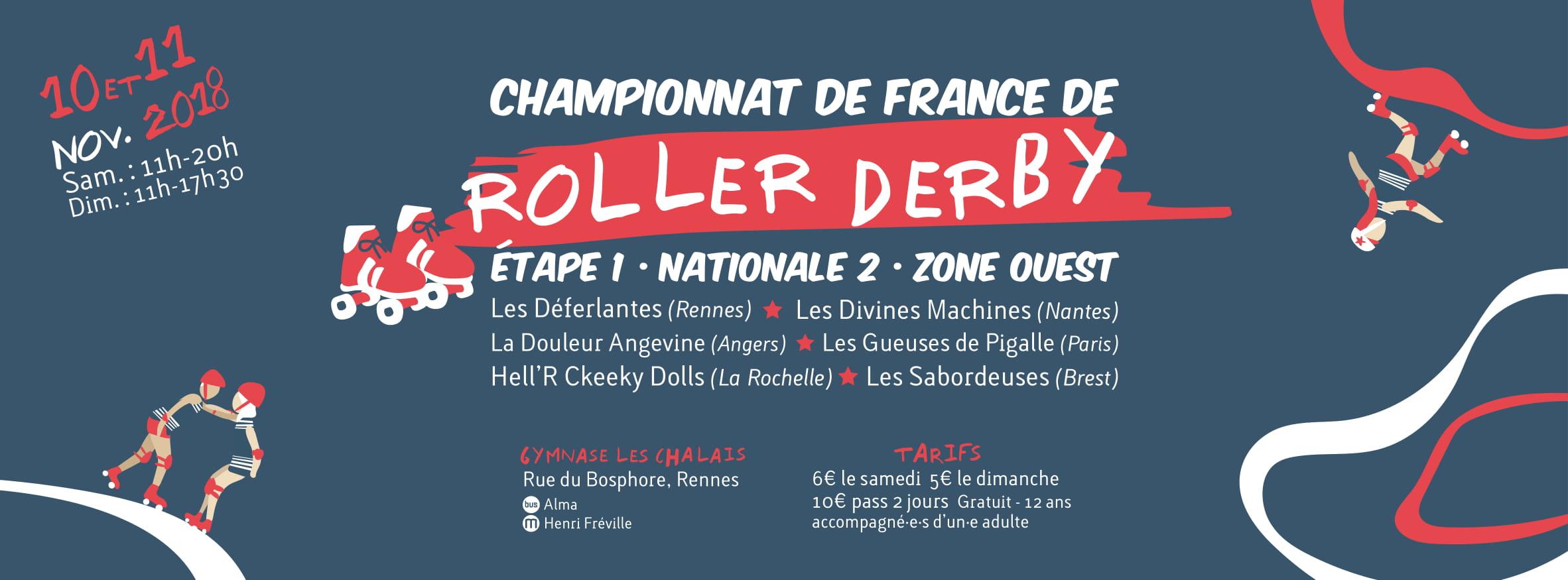 Rennes accueille le championnat N2 de Roller Derby